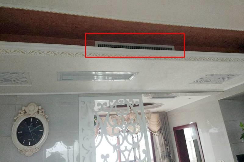 灯槽安装出风口